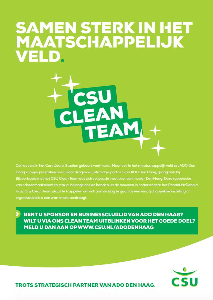 CSU partner ADO Den Haag